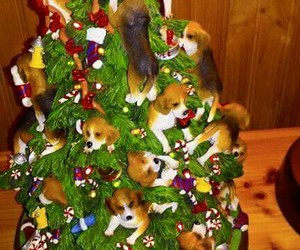 beagle, christmas, and figurine image
