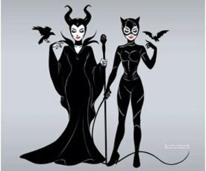 maleficent, disney, and catwoman image
