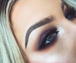 makeup, bronze, and eyes image