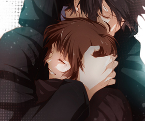 anime, psycho pass, and couple image
