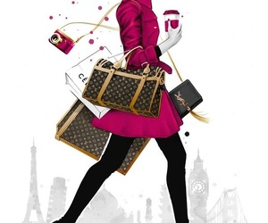 fashion, belleza, and ilustracion image