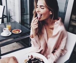 food and girl image