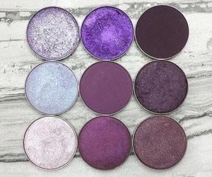 makeup, purple, and eyeshadow image