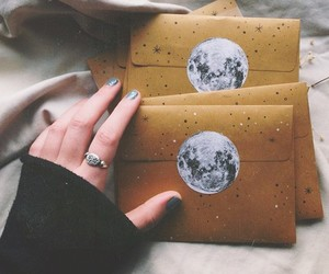 creative, moon, and letters image