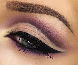 eyes, makeup, and cut crease image