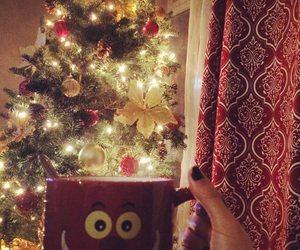 christmas, christmas tree, and tea image