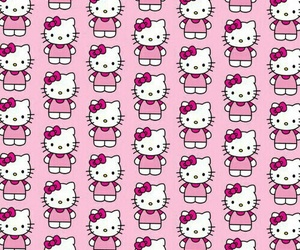 hello kitty and pattern image