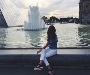 cool, girl, and louvre image