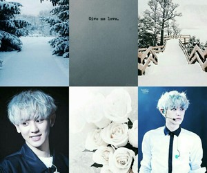 Collage, snow, and exo image