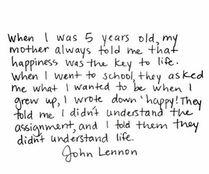 john lennon, life, and happiness image