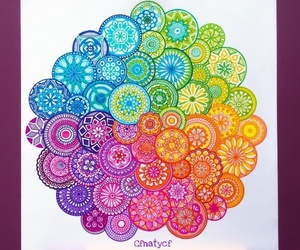 colorful, colors, and mandalas image