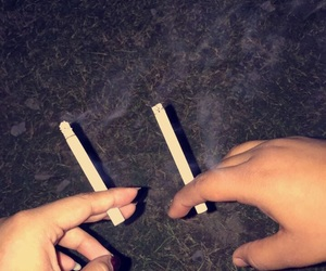 best friends, cigarrettes, and partner in crime image