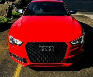 audi, red, and love image