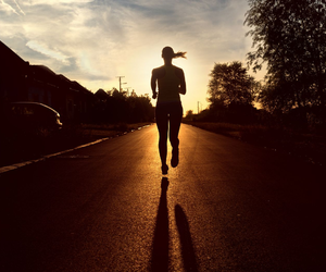 fitness, running, and woman image
