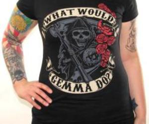 sons of anarchy, girls t-shirt, and soa girls shirt image