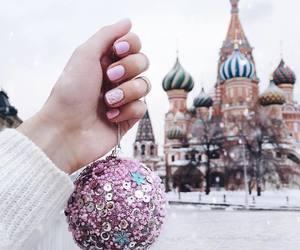winter, nails, and christmas image