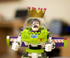 buzz lightyear, crown, and toy image