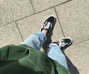 vans, jeans, and shoes image