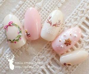 christmas, nails, and christmas nails image