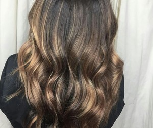 blonde, brown, and hair style image