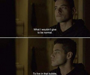 quote, mr robot, and rami malek image