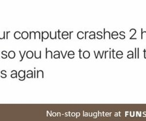 computer, essay, and funny post image