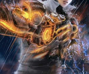 one punch man and genos image