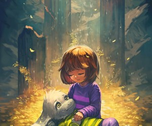 undertale, frisk, and art image