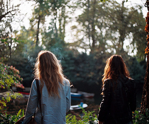 girl, friends, and back image