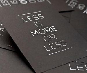 less is more or less image