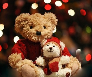 christmas, cute, and teddy image