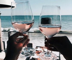 wine, summer, and beach image