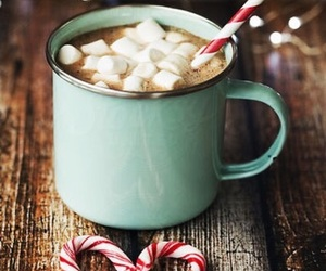 candy canes, holidays, and hot cocoa image