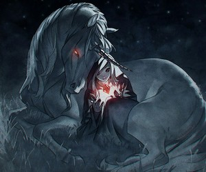 anime and unicorn image