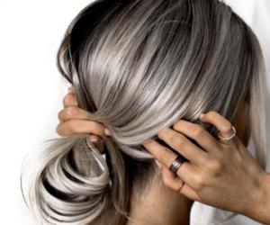 gray, haïr, and grey image