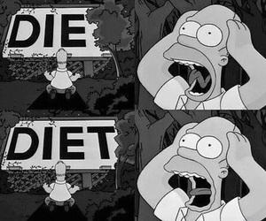 black, die, and diet image