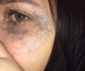 girl, glitters, and shining image