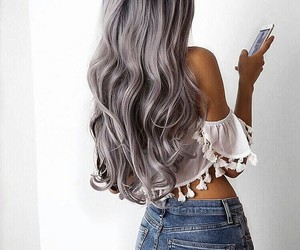 hair, style, and grey image