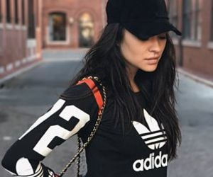 shay mitchell, adidas, and beauty image