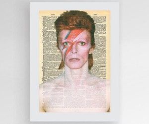 etsy, david bowie poster, and dictionary art image