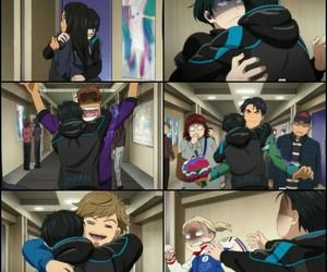 anime, funny, and hug image