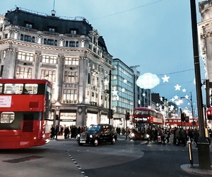 christmas, evening, and london image