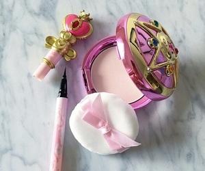 makeup, pink, and sailor moon image