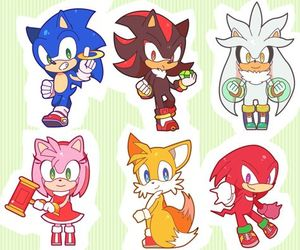 Sonic the hedgehog, silver the hedgehog, and ami rose image