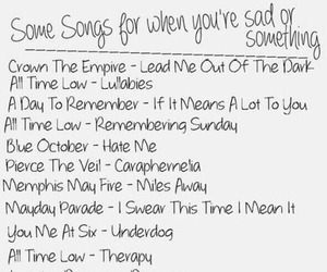 sad, songs, and music image