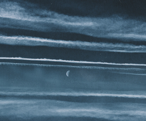 blue, clouds, and moon image