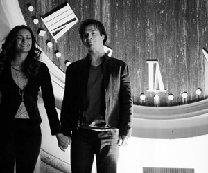 damon, elena, and ian somerhalder image
