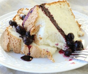 sweet, blueberry, and cake image