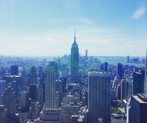 city, view, and empire state image