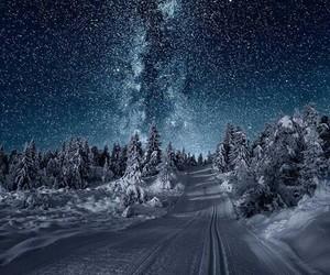 snow, winter, and stars image